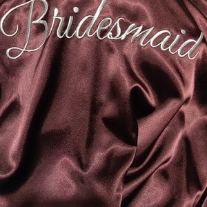 Bridesmaid Robe Wine Colored